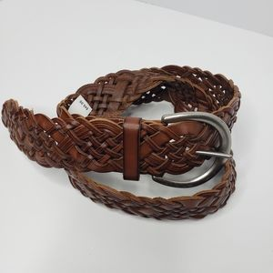 🆕️Fossil brown weav braided leather belt Large